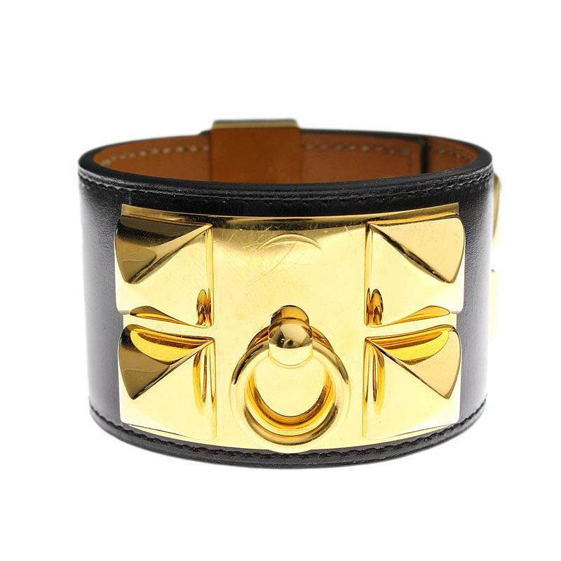 T刻印G金具ボックスカーフコリエドシアンレザーブレスレット