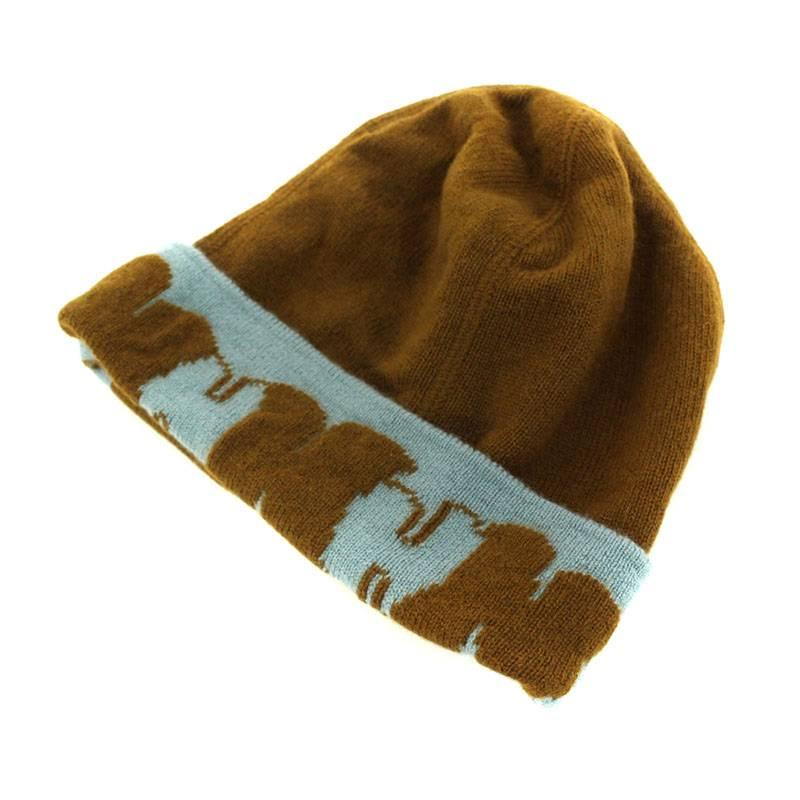 H柄カシミアニットキャップ帽子