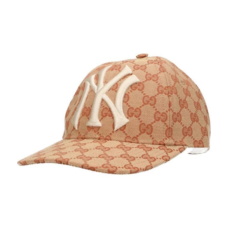 GG総柄NY刺繍ベースボールキャップ