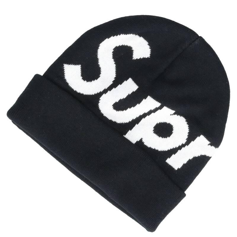 ビッグロゴビーニーニット帽