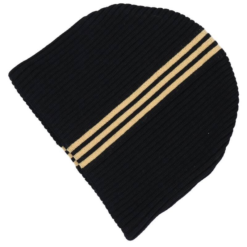 ラインデザインニットキャップ帽子