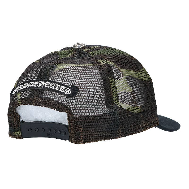 FOTI刺繍クロスボール付カモフラメッシュ帽子