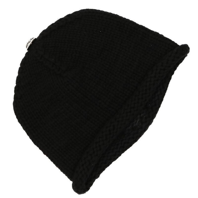 レザーBSフレアパッチカシミヤ帽子