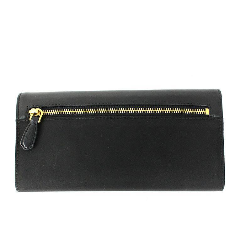 レザー切替ナイロンパスケース付き財布