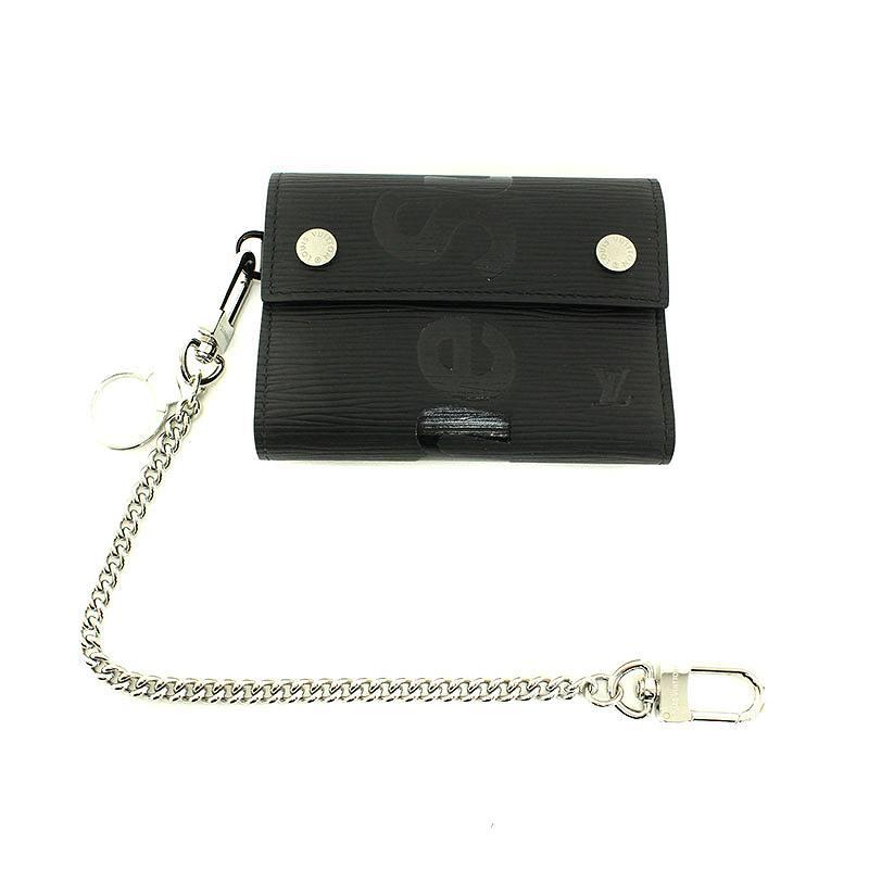 ロゴエピレザーチェーン財布