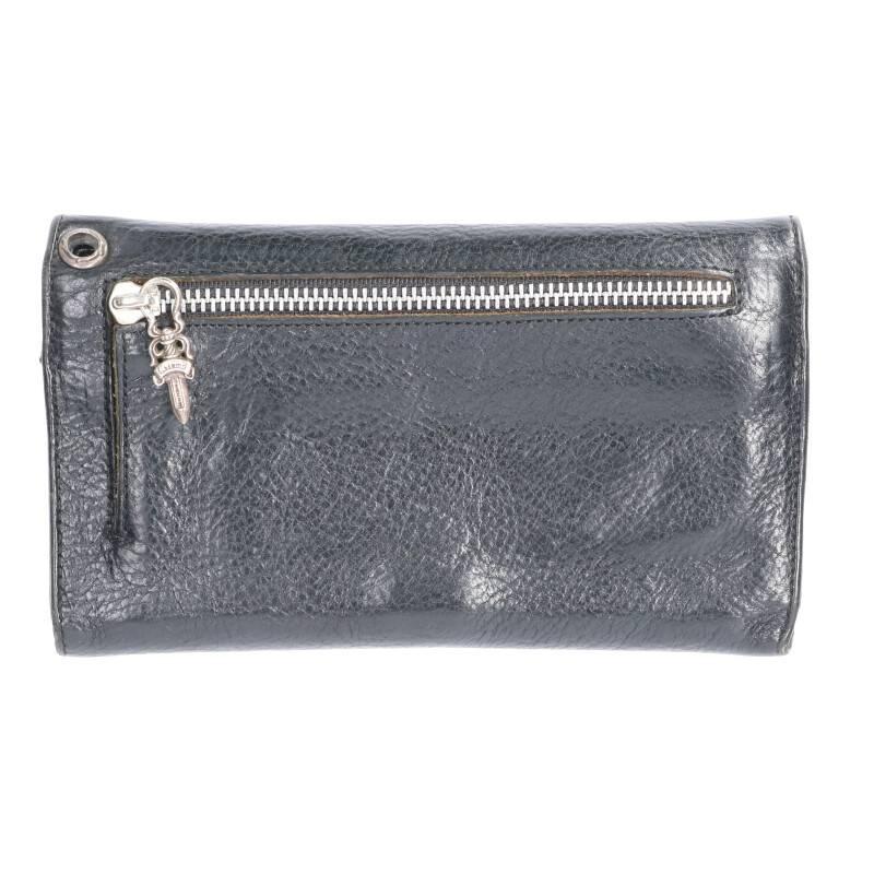 クロスボールボタンレザーウォレット財布