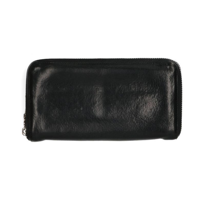 3クロスラウンドジップレザーウォレット財布