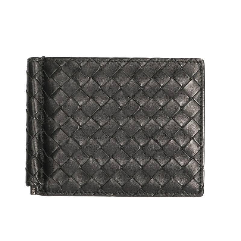 クリップ付きイントレチャート二つ折りウォレット財布