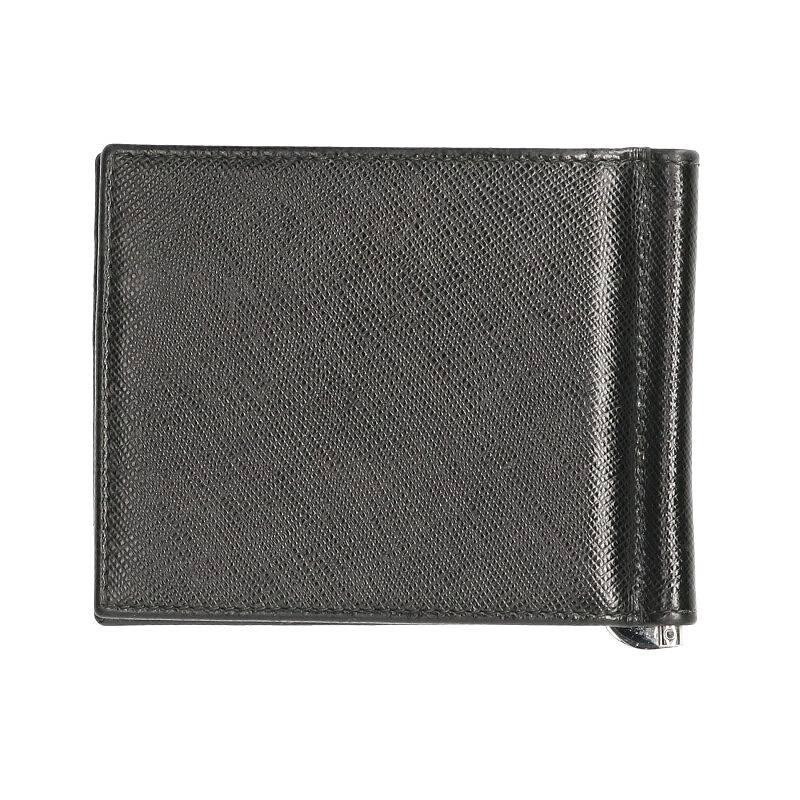 マネークリップ付きサフィアーノレザー二つ折り財布