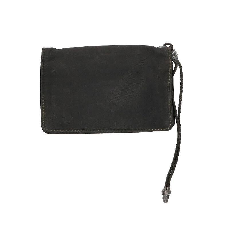 ストラップ付ホースシューボタンナイロンウォレット財布
