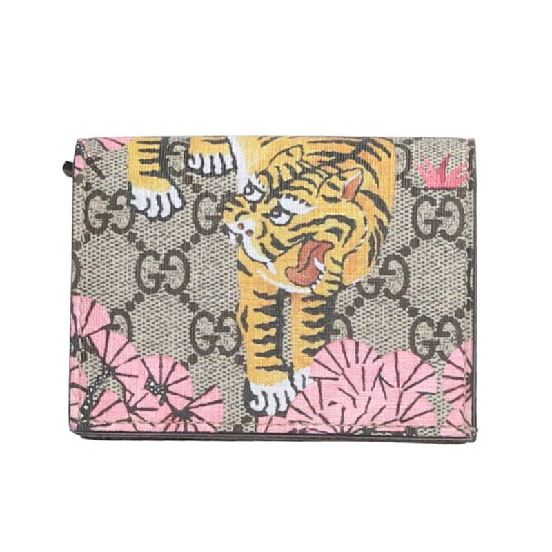 GGスプリームタイガープリント2つ折り財布