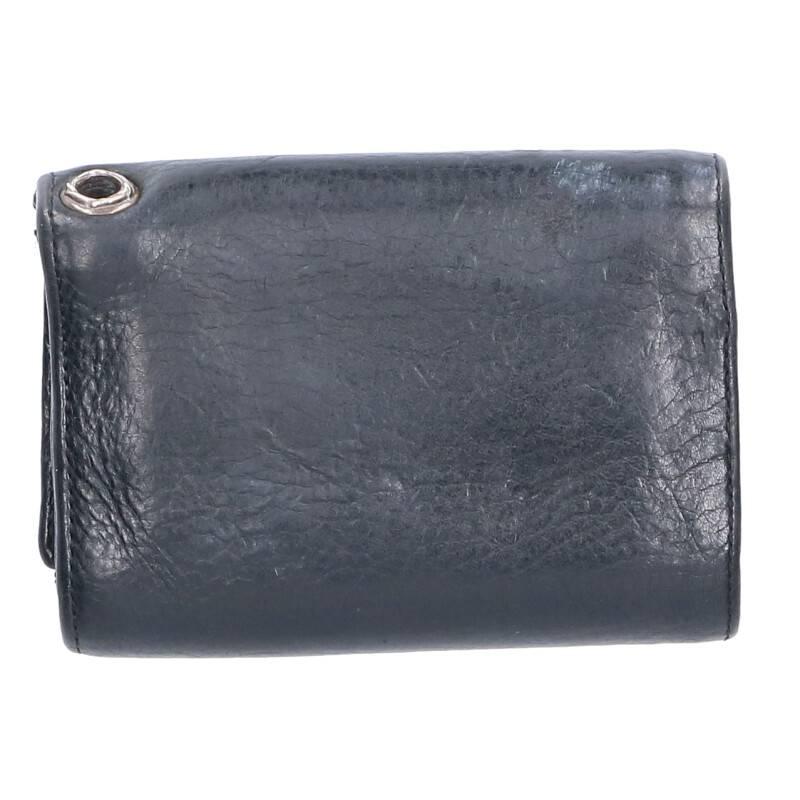 クロスボタンレザーウォレット財布