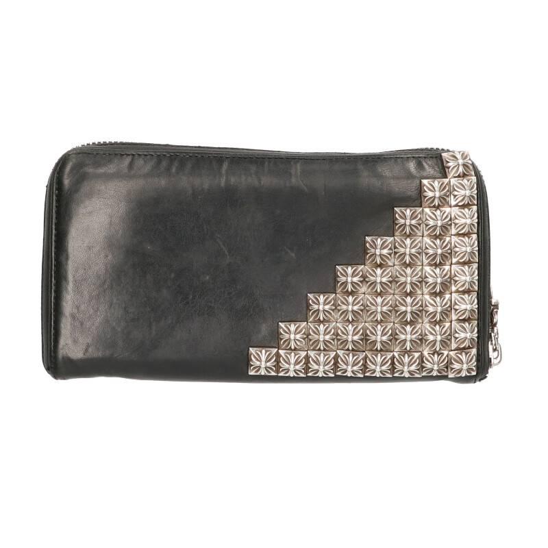 ラウンドジップレザー財布