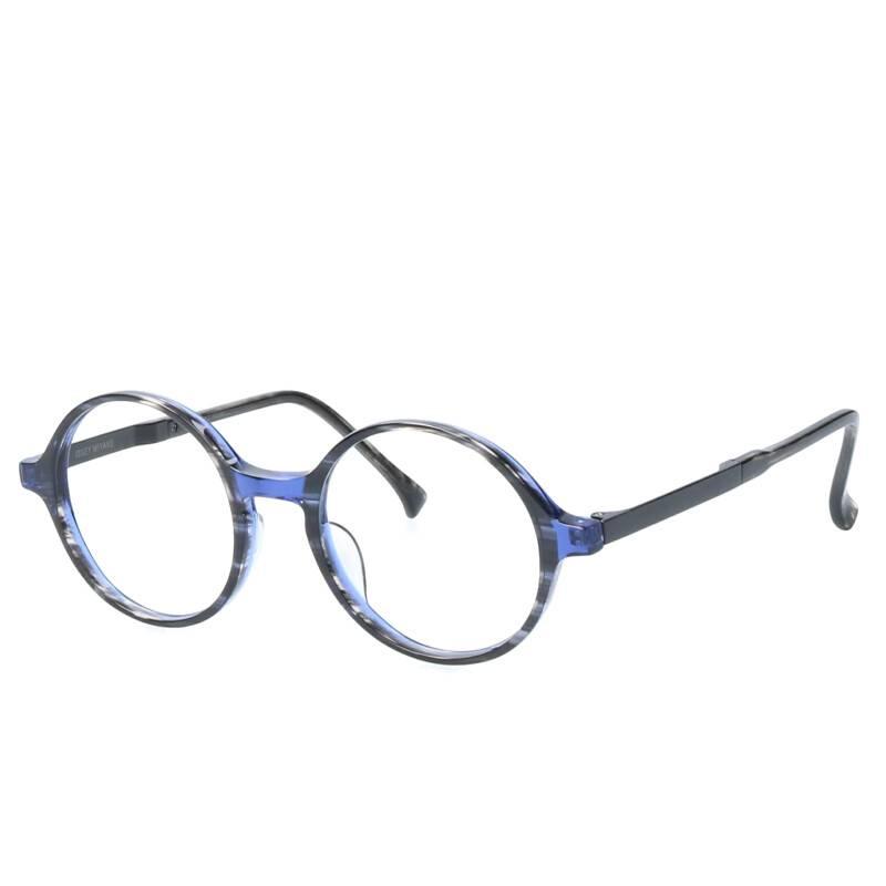 セルフレームボストン眼鏡