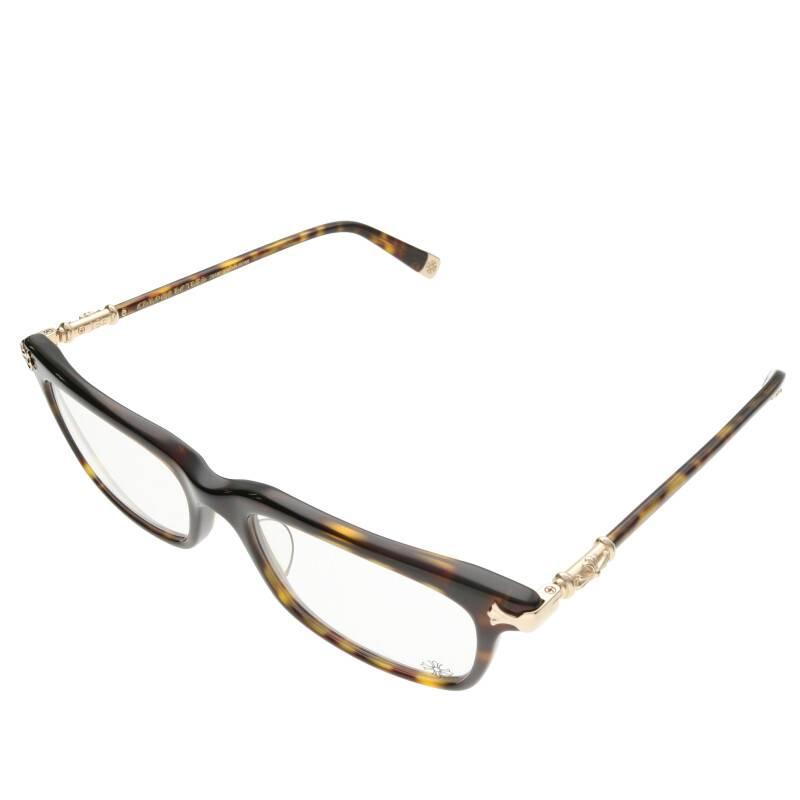 クロステンプルスクエアフレーム眼鏡