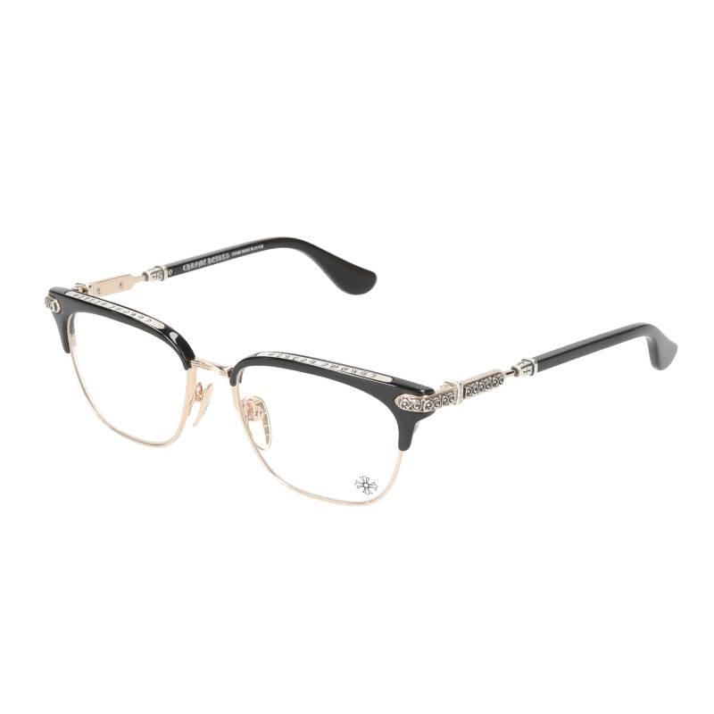 サイドエタニティハーフリム眼鏡