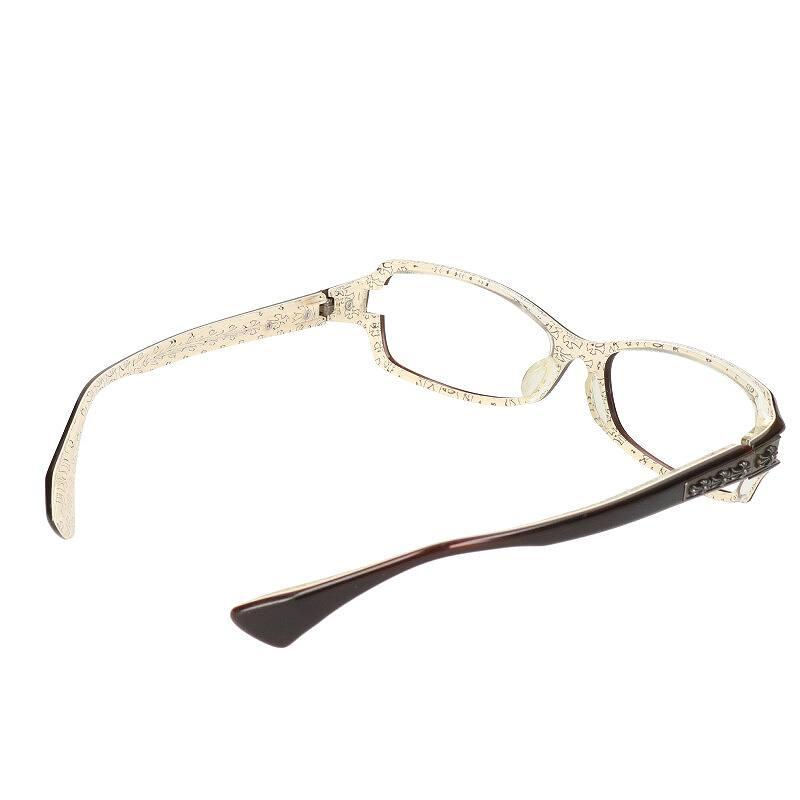 CHクロステンプルオーバル眼鏡