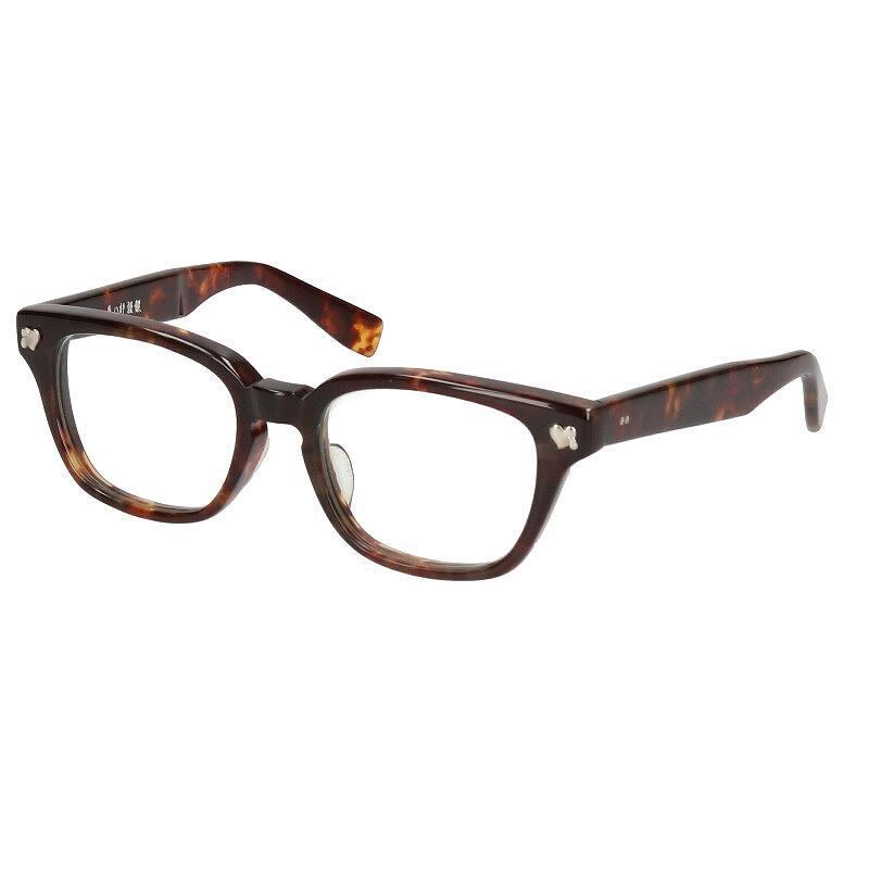 べっ甲調ウェリントンフレーム眼鏡