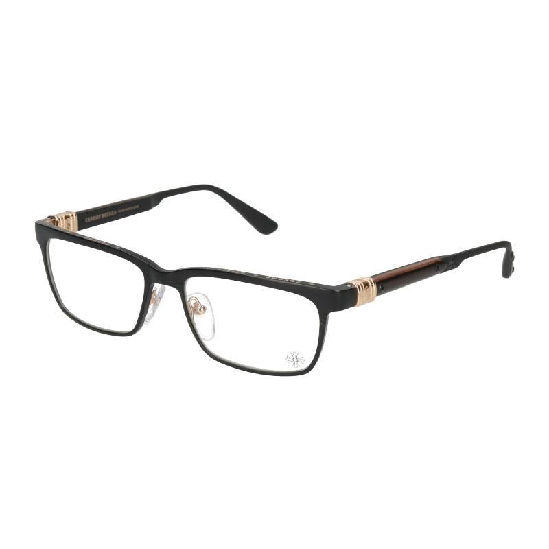ゴールドコーティングエボニーテンプルアイウェア眼鏡