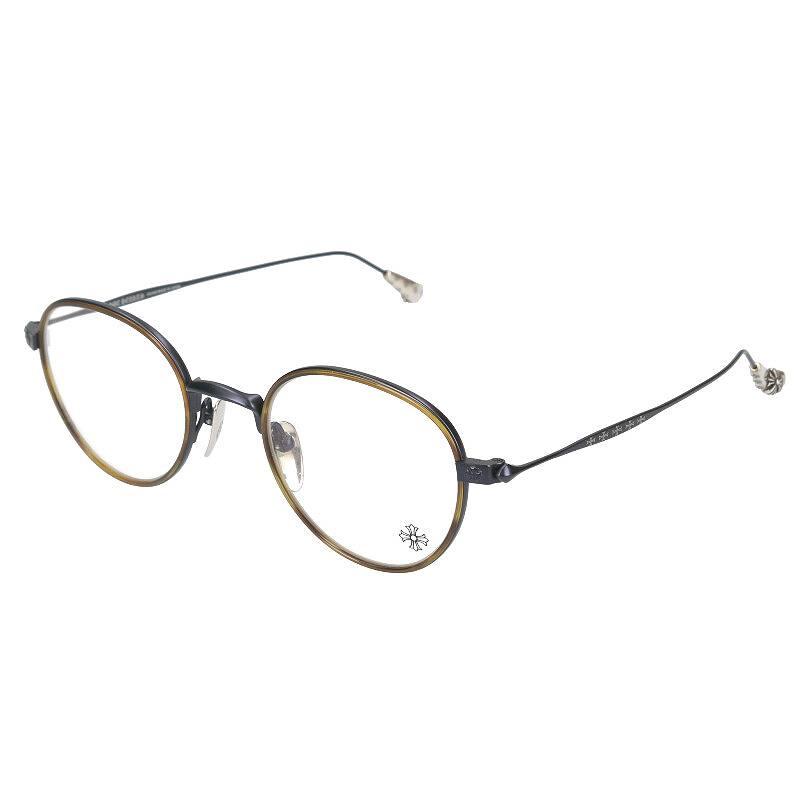 CHプラステンプル鼈甲柄メタルフレーム眼鏡眼鏡