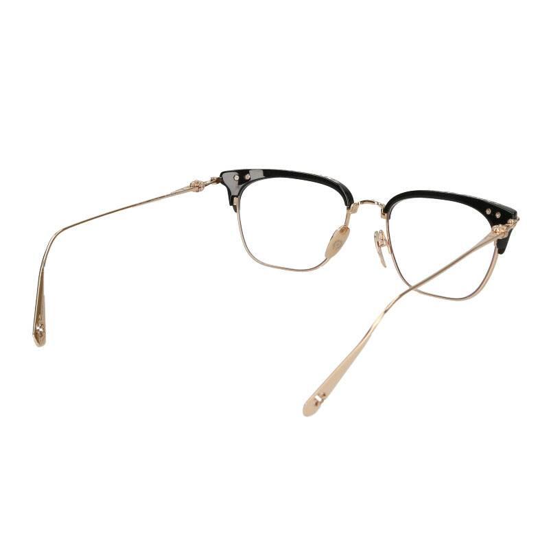 クロスボールハーフリムスクエア眼鏡