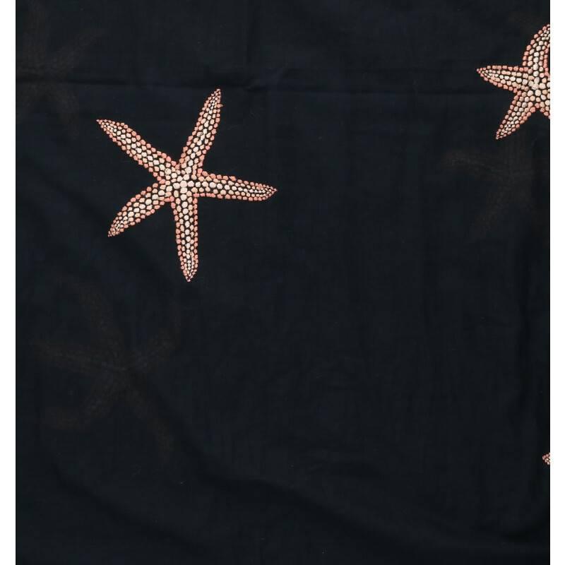 スターフィッシュ刺繍ストール