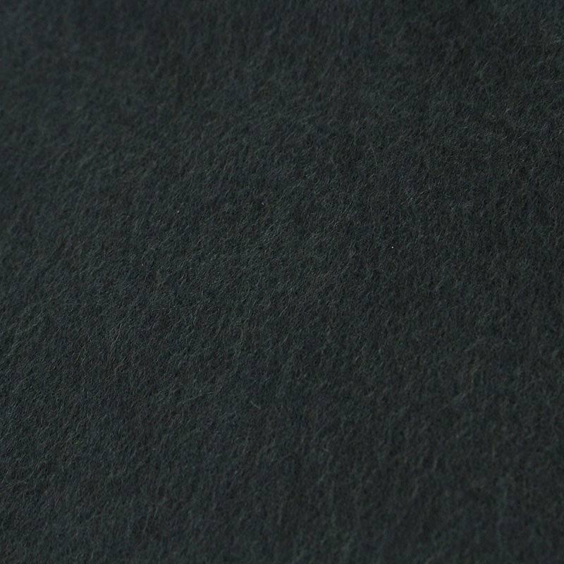 ロゴ刺繍カシミアフリンジマフラー