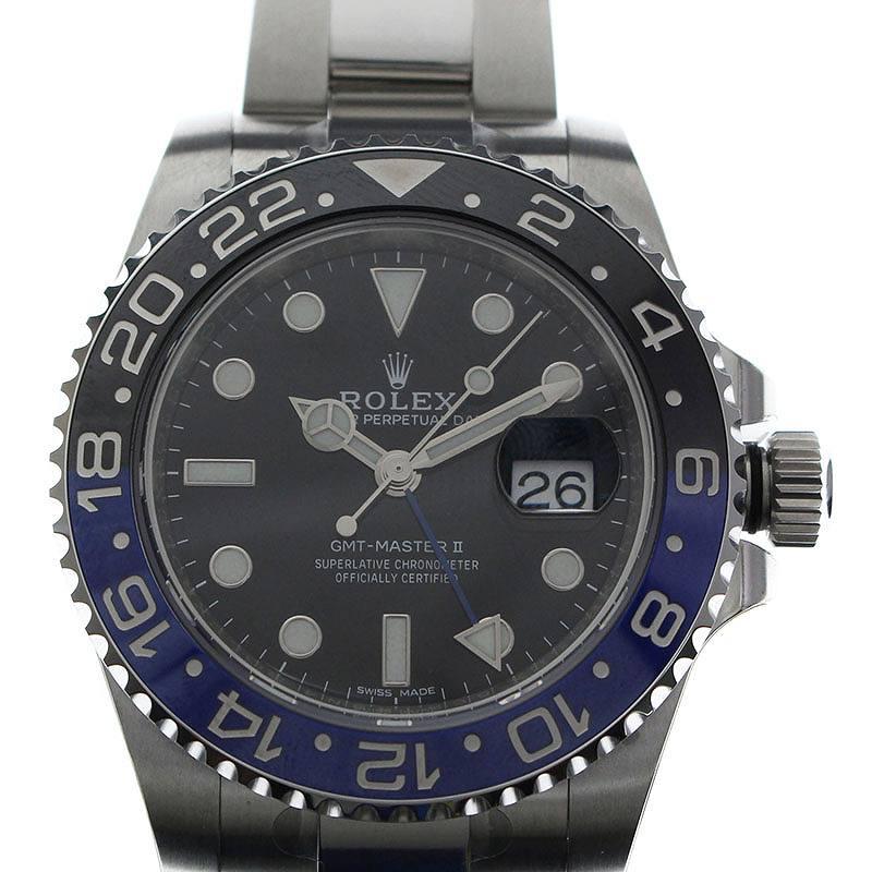 ランダム品番GMTマスター2青黒ベゼルウォッチ腕時計
