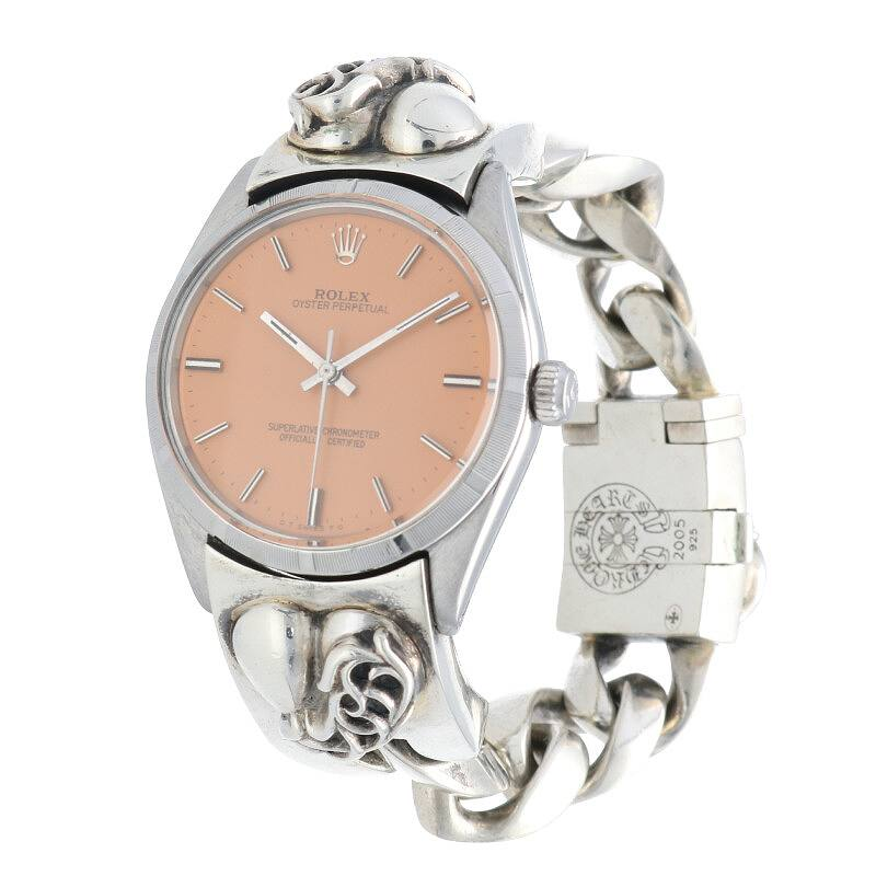 ハートモチーフクラシックリンクボックスクリップ腕時計