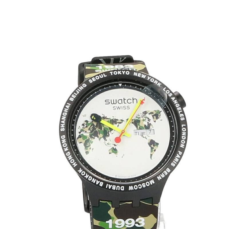 カモフラ柄クウォーツ腕時計