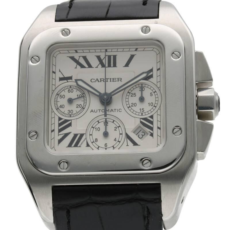 クロノグラフステンレス自動巻き腕時計
