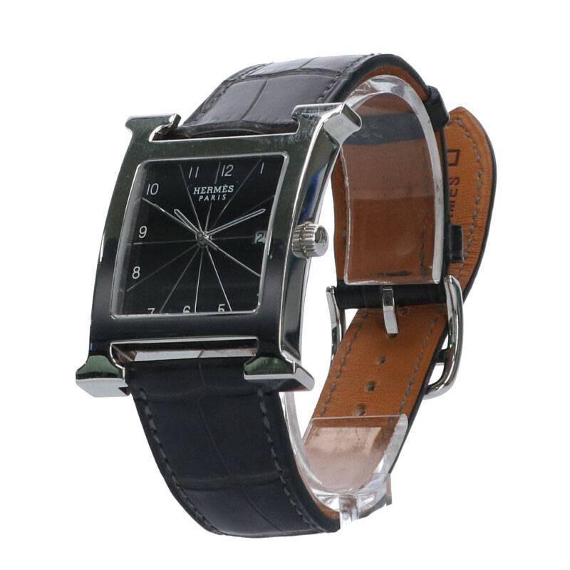 □M刻印 アリゲーターマットベルトクウォーツウォッチ腕時計