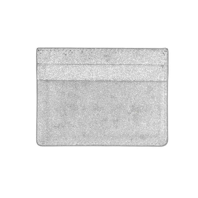 ラメ加工レザーカードケース