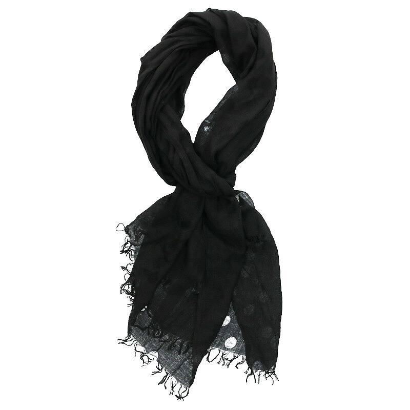 総柄シルク混スカーフ