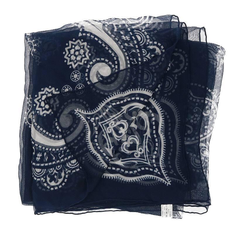 シルクシフォンバンダナスカーフ