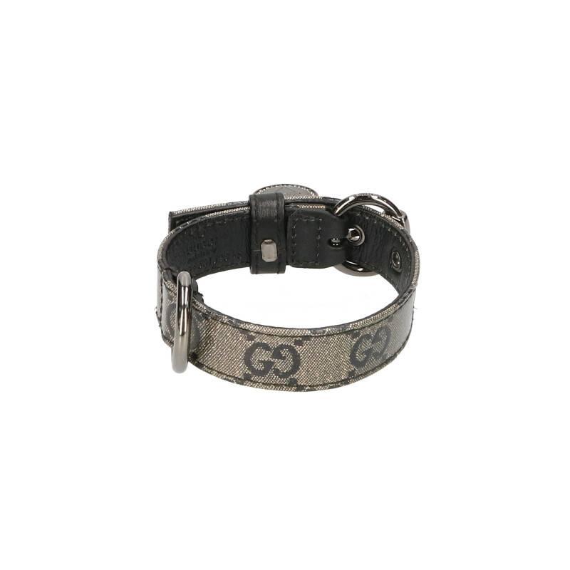 GG柄リボンメダル付き犬用首輪