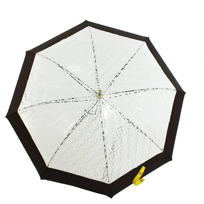 ズッカ柄ビニール切替傘