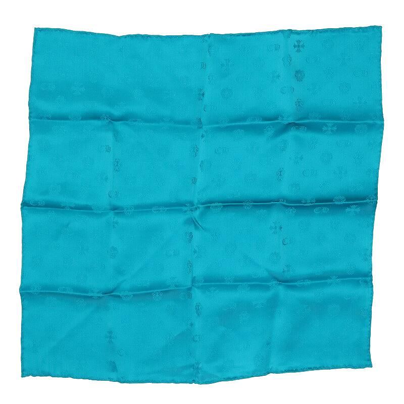 CHロゴ総柄シルクスカーフ