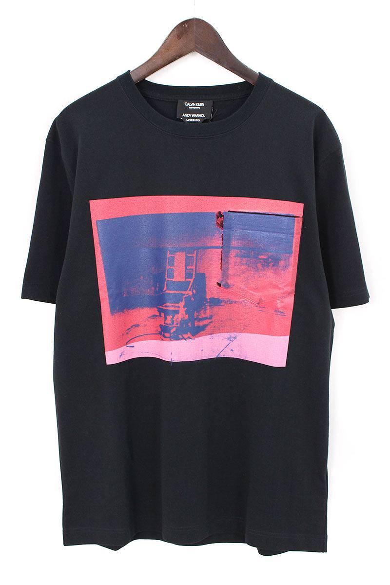 ラウンドネックコーティングフォトプリントTシャツ