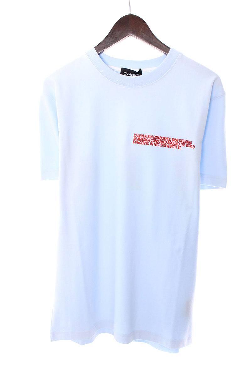 ラウンドネックロゴ刺繍オーバーサイズTシャツ