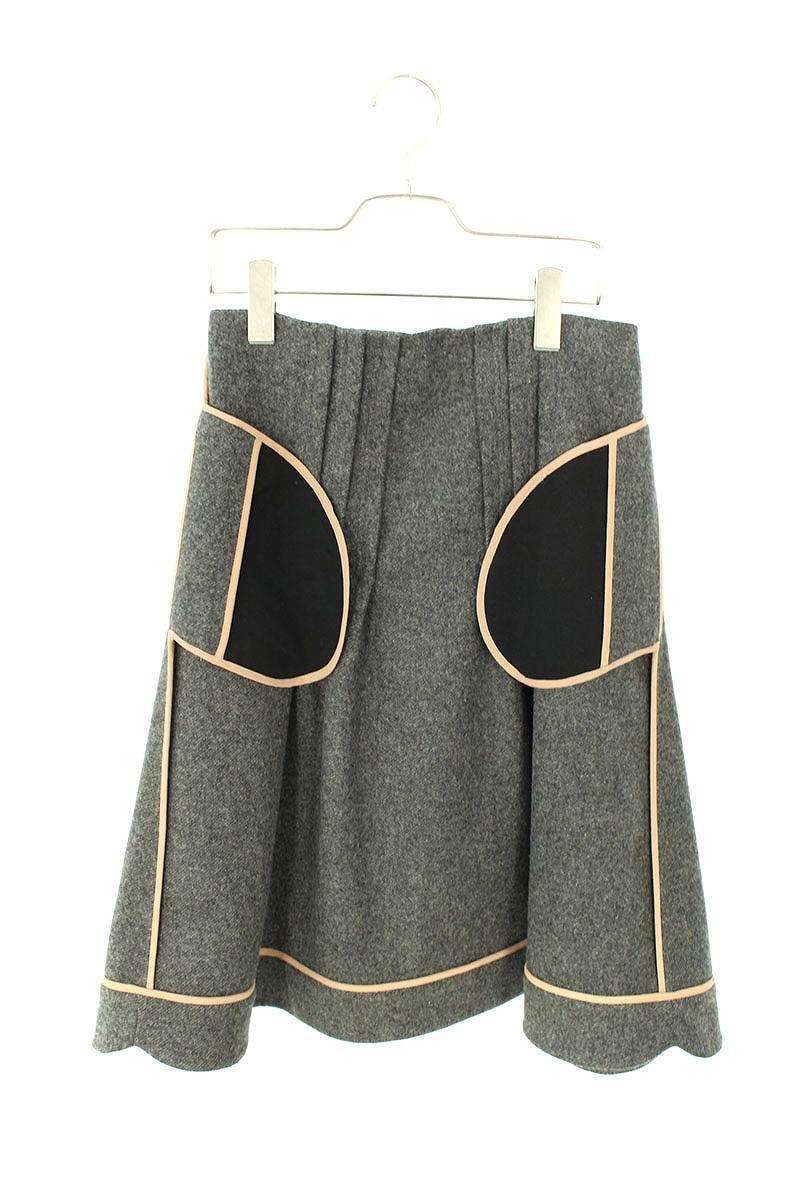 ウールパイピングデザインスカート