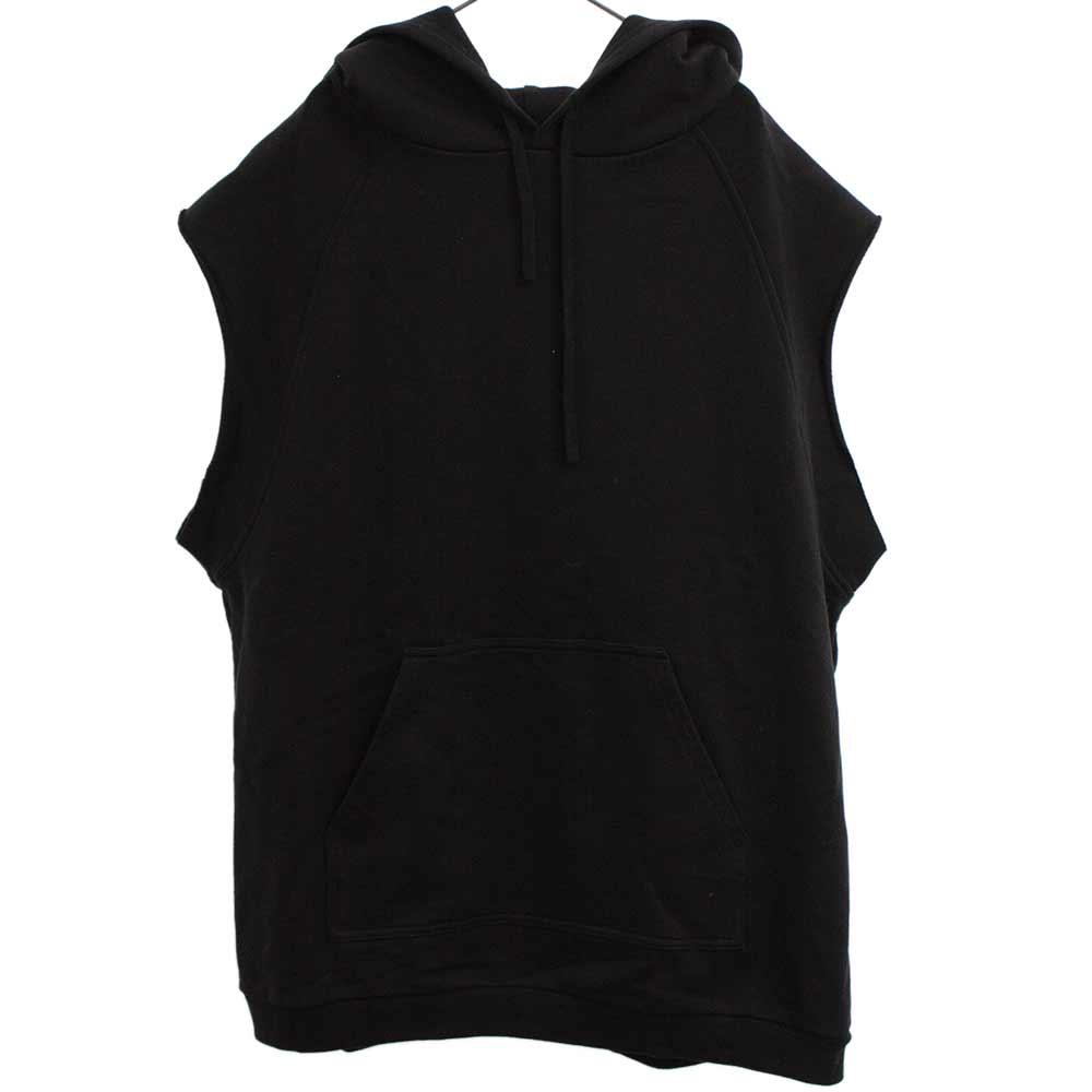 Sleeveless hoodie ノースリーブバックプリントパーカー