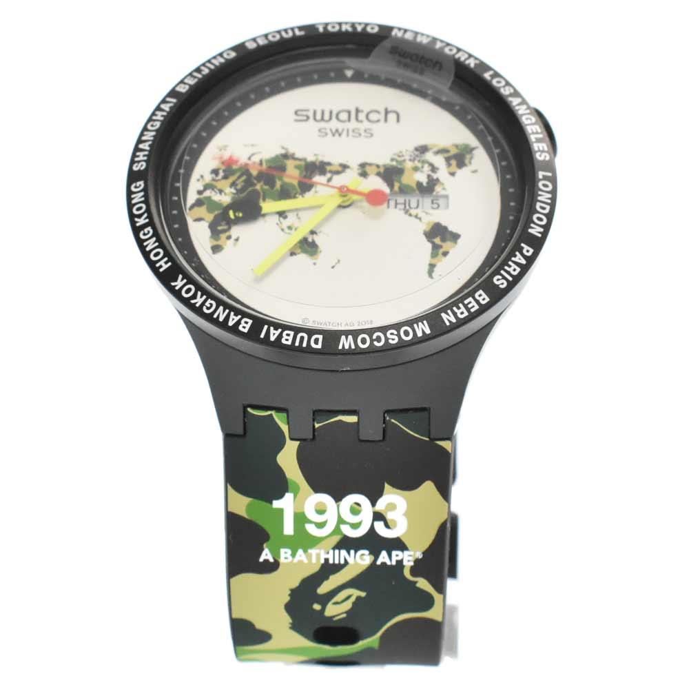 BAPE SWATCH SWISSBIG BOLDベイプスウォッチグローバルワールドモデルウォッチ時計