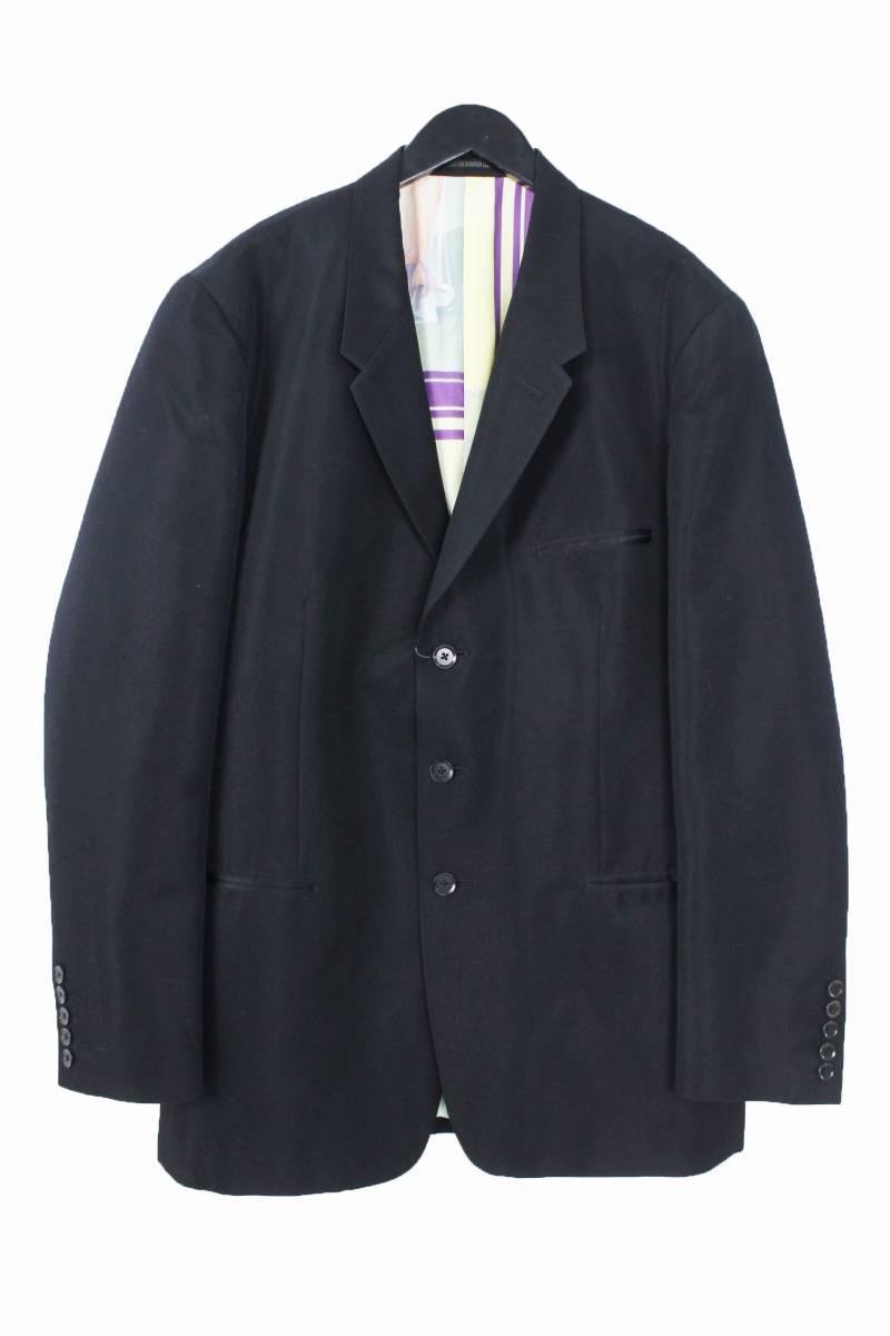 裏地シルクガールプリント総柄3Bジャケットジャケット