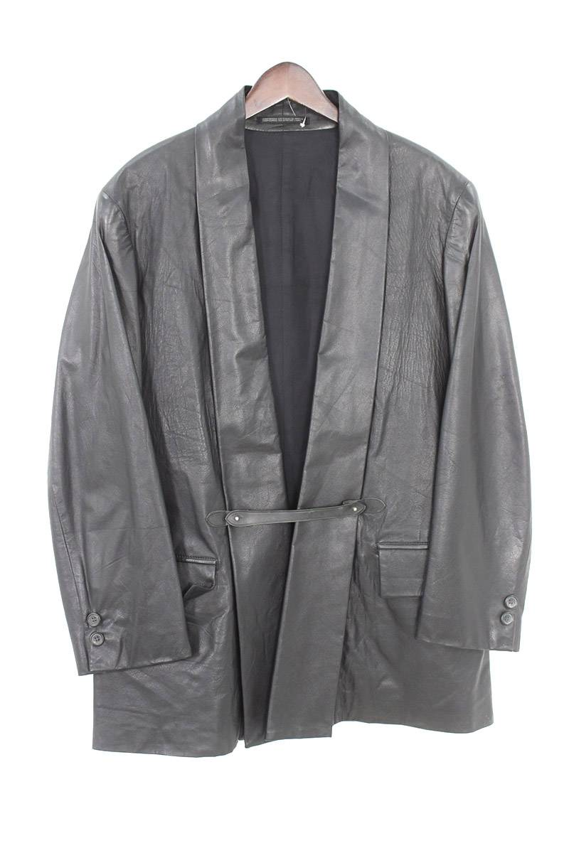 オーバーサイズカーフレザージャケット