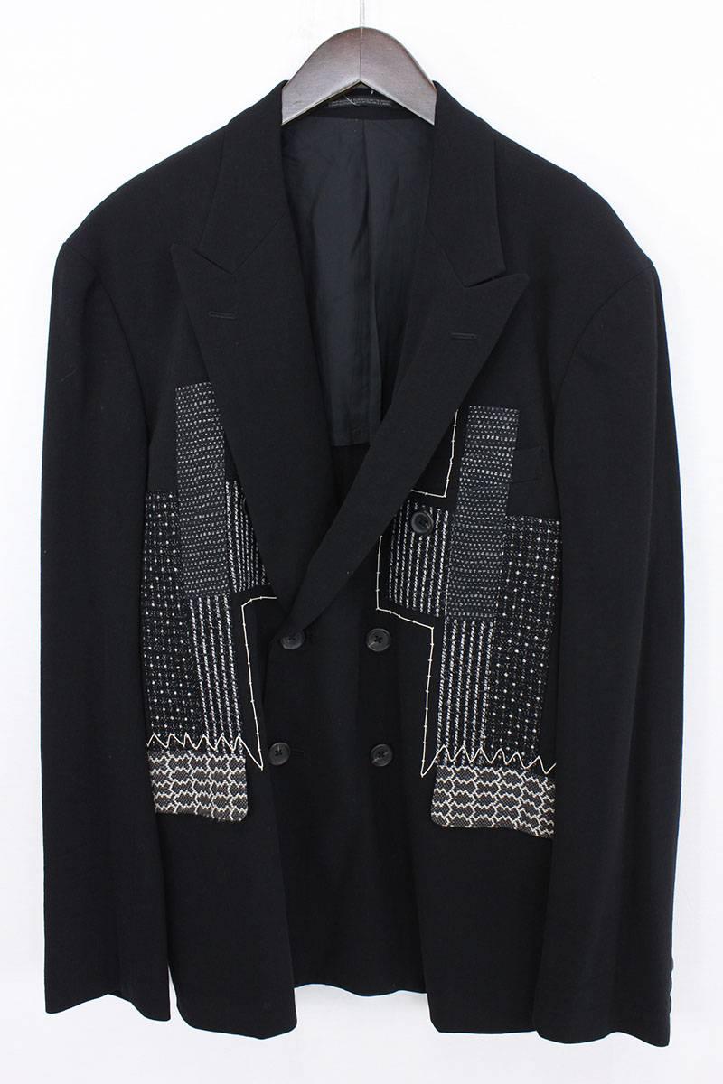 刺し子テーラードダブルブレストジャケット