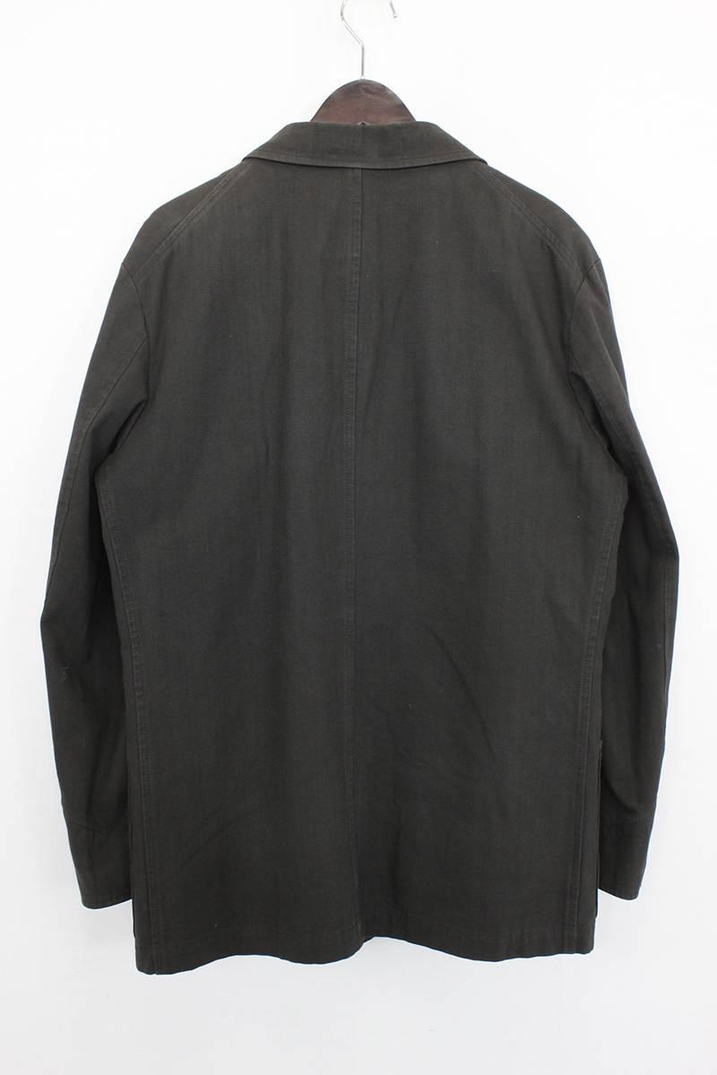 裏起毛斜めポケットダブルブレストジャケット