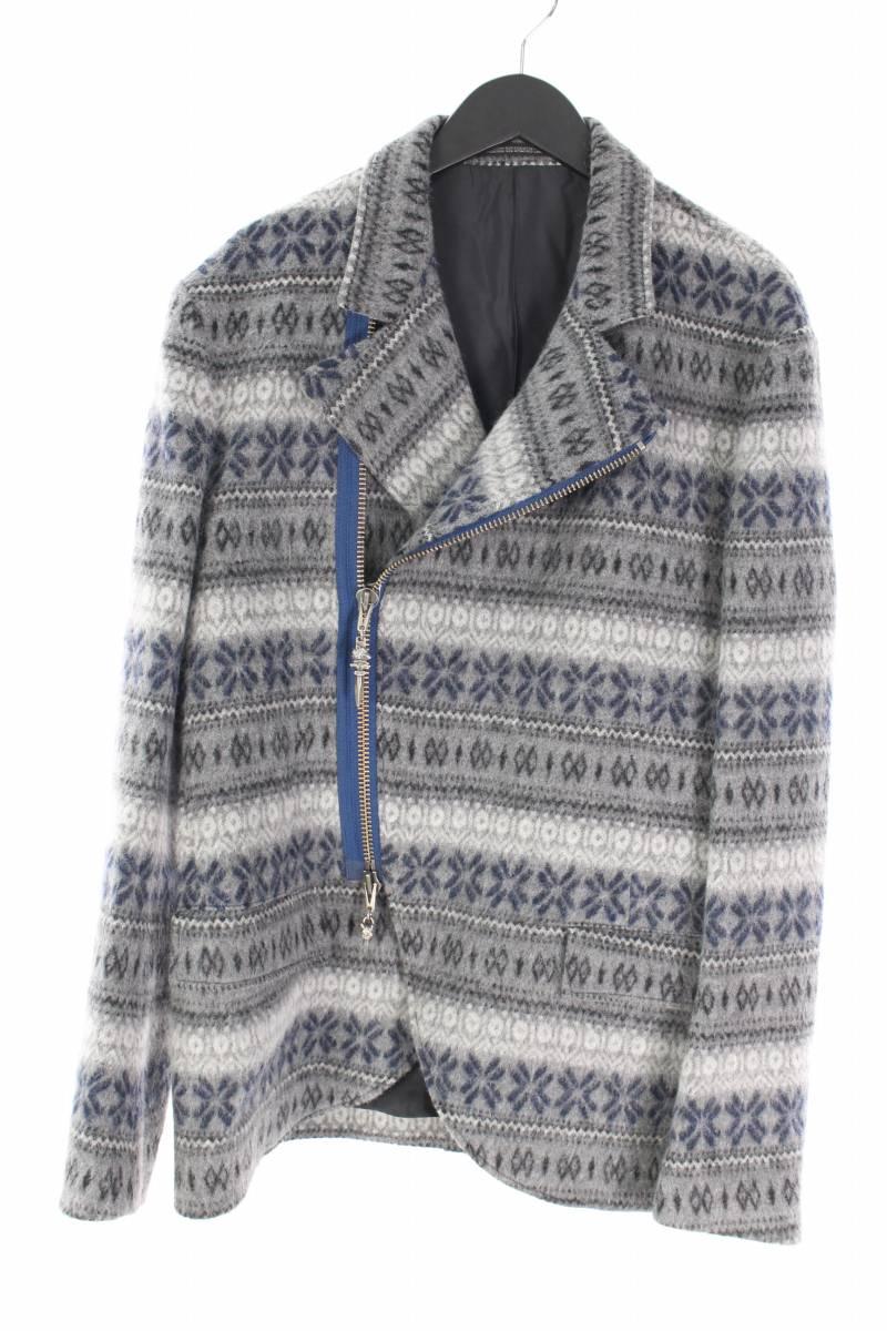 ノルディック柄ビーストジップジャケット