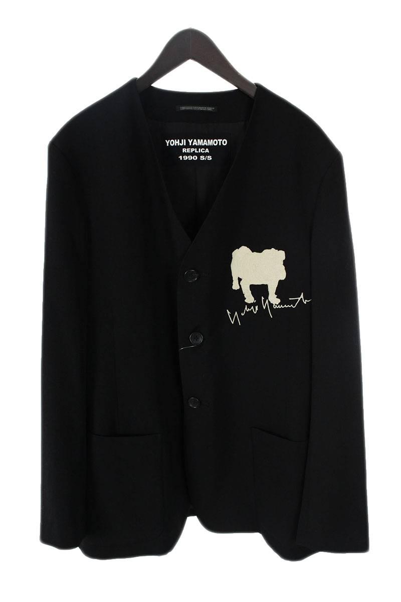 REPLICA1990S/S犬刺繍ノーカラージャケット