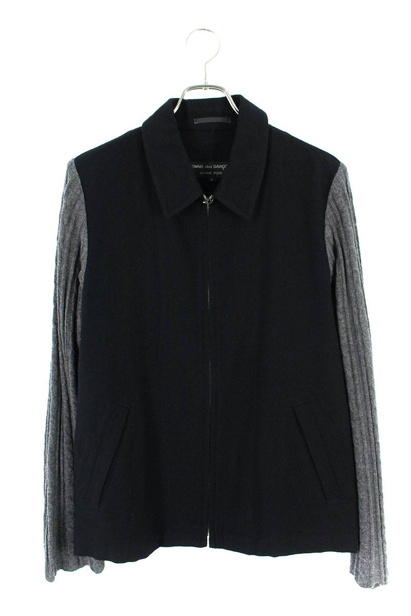 AD1996スリーブニット切替ウールジャケット